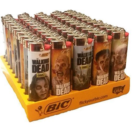 Wholesale Bic Lighters the Walking Dead, Licensed 50 Pieces