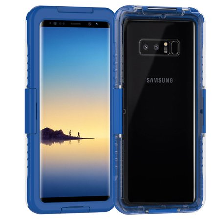 separation shoes 0fbdf 20540 Galaxy Note 8/9 Case, Mignova Waterproof Dust proof Shockproof Full Body  Cover Case for Samsung Galaxy Note 8 (Blue)