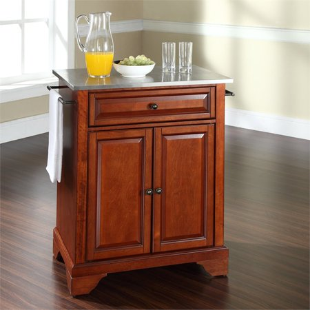 Crosley LaFayette Stainless Steel Top Portable Kitchen Island in Cherry - image 1 of 6