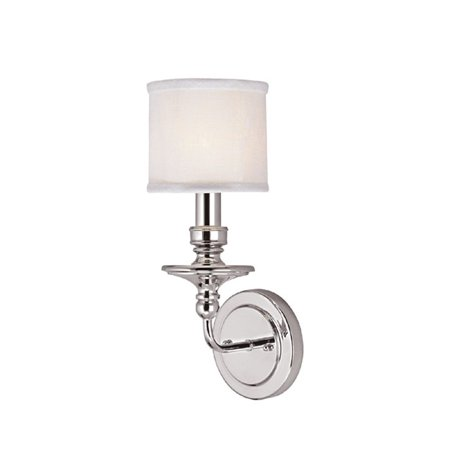 Nickel One Light Sconce - Capital Lighting Midtown Polished Nickel 1 Light Sconce