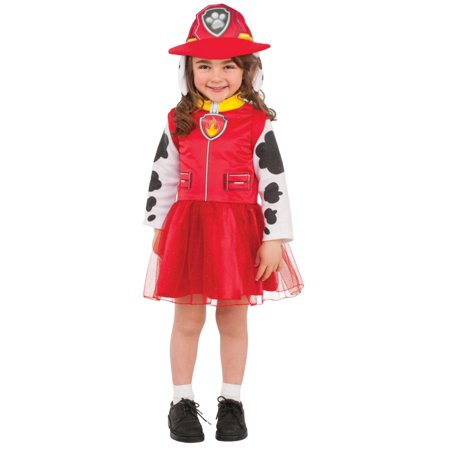 Girls Marshal Paw Patrol Child Halloween Costume Nickelodeon Medium - Nickelodeon Halloween Costumes