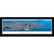 San Francisco, California - Blakeway Panoramas Print with Select Frame and Single Mat