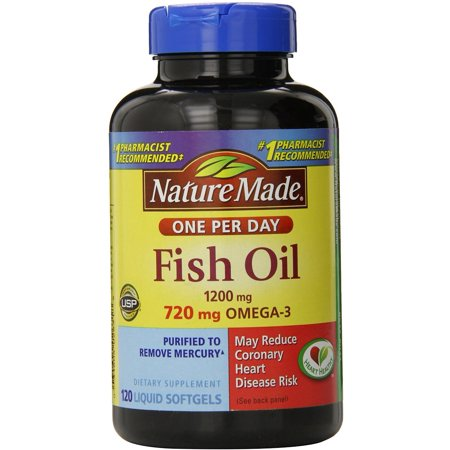 Upc 031604026318 nature made fish oil one per day 1200 for How much fish oil a day