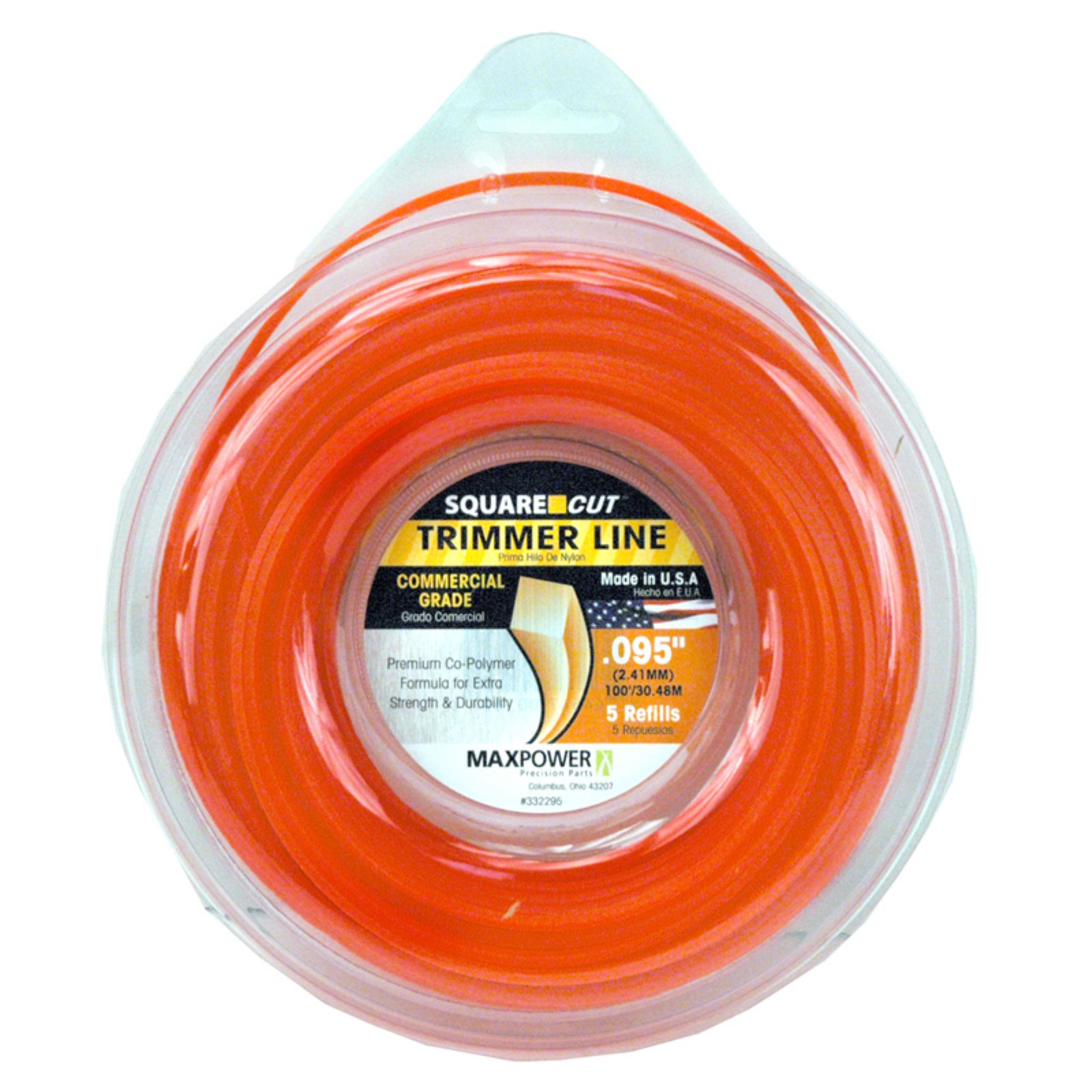 Maxpower 332295 .095 in x 100' Square One Trimmer Line