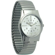 Mens Braille Watch -Chrome, Exp. Band