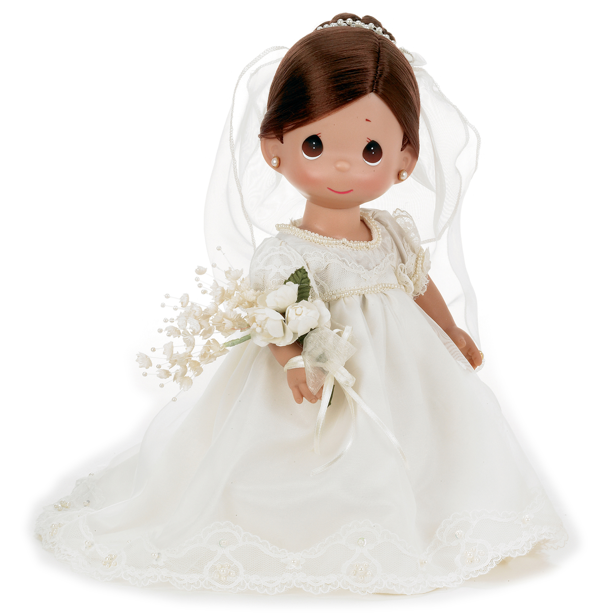Precious Moments Dolls by The Doll Maker, Linda Rick, Enchanted Dreams Bride Brunette, 12 inch doll