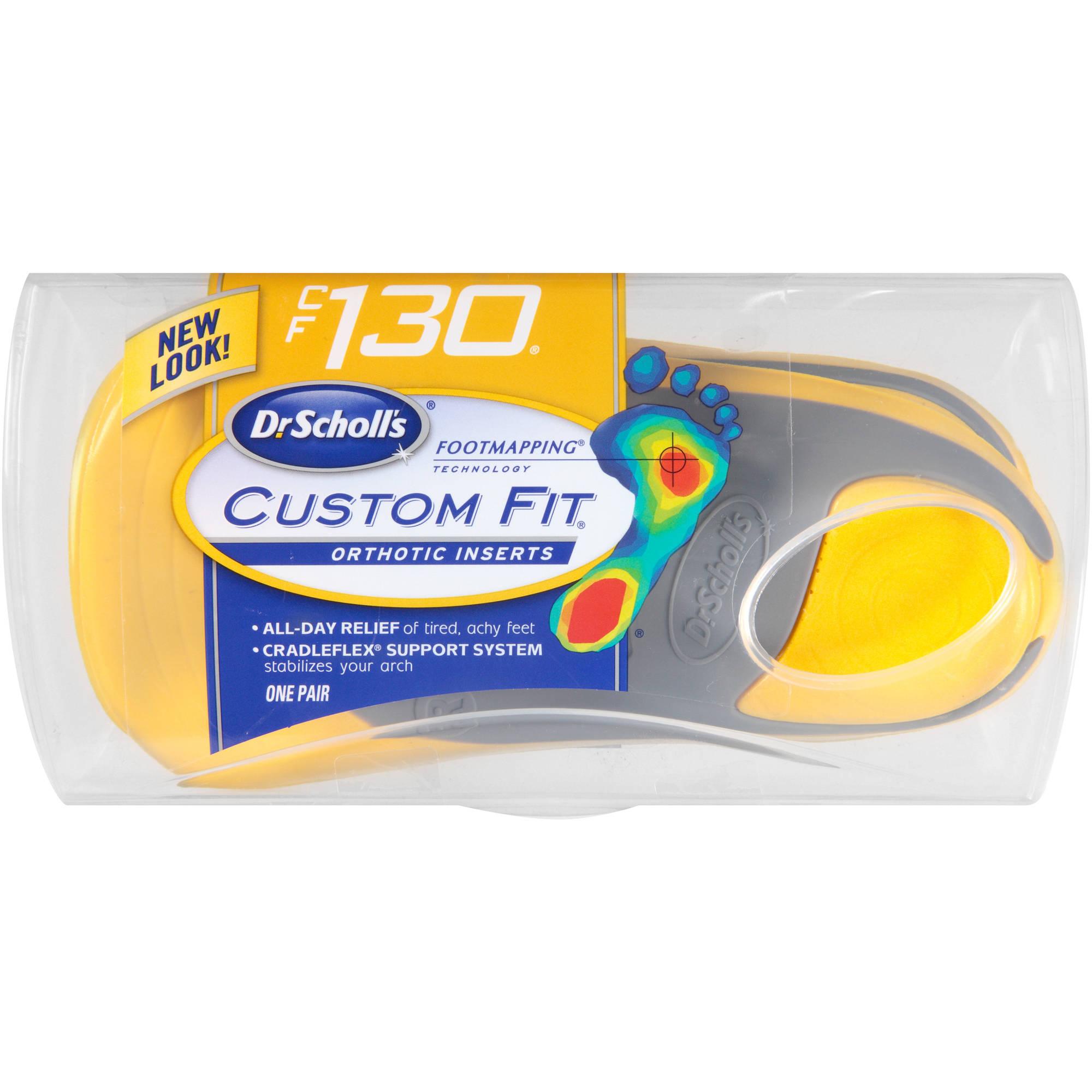 Dr Scholl's Custom Fit CF130 Orthotic Inserts, 1 pr