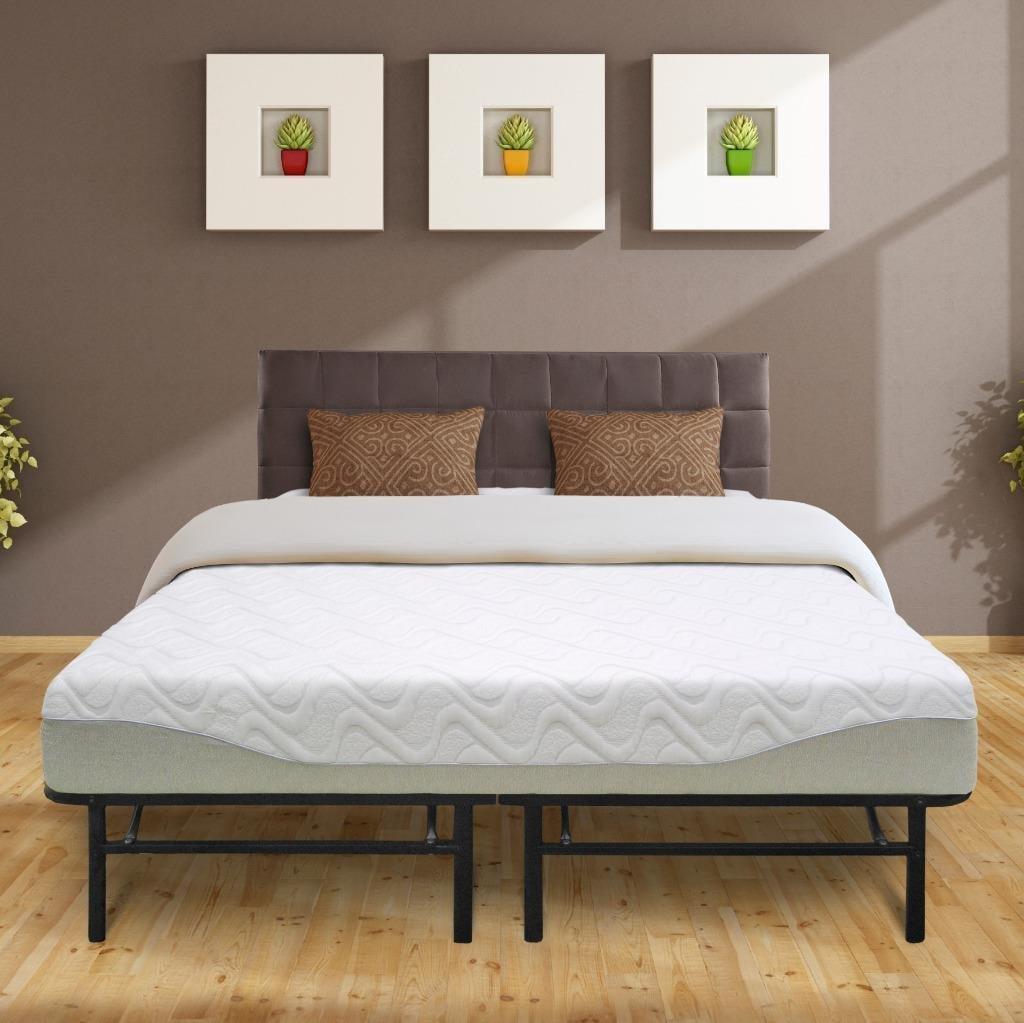 Best Price Mattress 9 Inch Gel-infused Memory Foam Mattress and 14 Inch Steel Platform Bed Frame Set Multiple... by Best Price Mattress