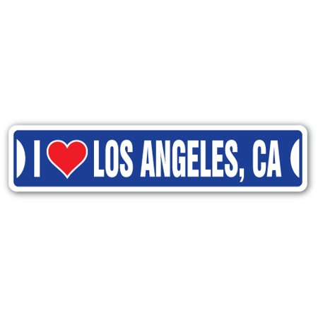 I LOVE LOS ANGELES, CALIFORNIA Street Sign ca city state us wall road décor gift](Party City Los Angeles Ca)
