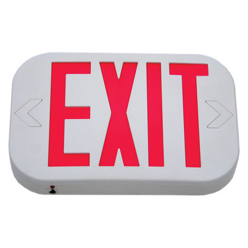 Deco Lighting Low Profile Single Face Exit Sign with White Housing