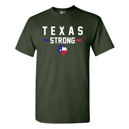 Texas Strong Map USA Survivor 2017 DT Adult T-Shirt Tee (Texas Tech 2017 Halloween)