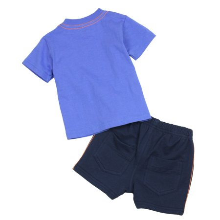 Petit Lem Baby Boy's Jogging Shorts and T-shirt Retro Road, Sizes 12-24M - 12M - image 1 of 2