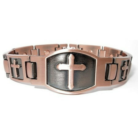 66aa959a7 Wellnessmarketer - Limited-Time Special - Copper Cross - Magnetic Therapy  Bracelet - Walmart.com