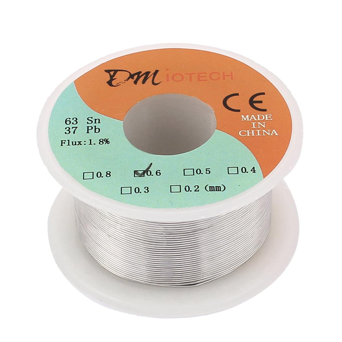 DMiotech 0.6mm 50G 63/37 Tin  Roll Solder Core Flux Soldering Wire Reel