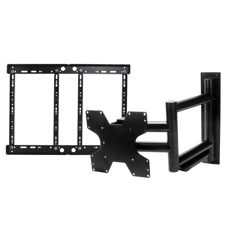 Parts Express X-Treem Articulating TV Wall Mount for TVs up to 110 lbs comes with 400x400 VESA adaptor