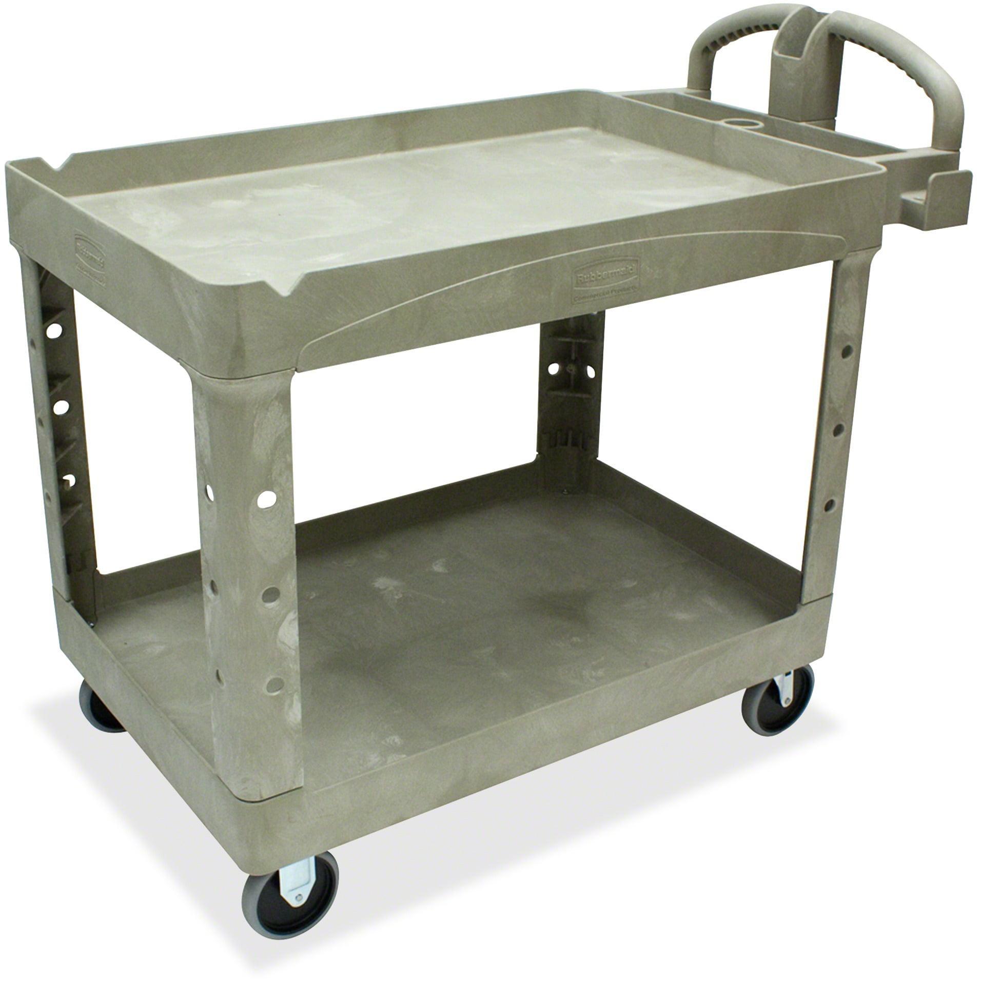 Rubbermaid Commercial, RCP452088BG, Two Shelf Service Cart, 1 Each, Beige
