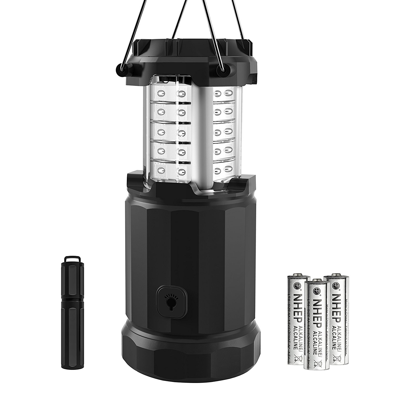 Etekcity LED Lantern Camping Magnetic Lights Dimmer Button Brightness Control with Batteries, Camping Gear for Hiking, Power Outage, Fishing, Storm (Collapsible, Upgraded CL30)