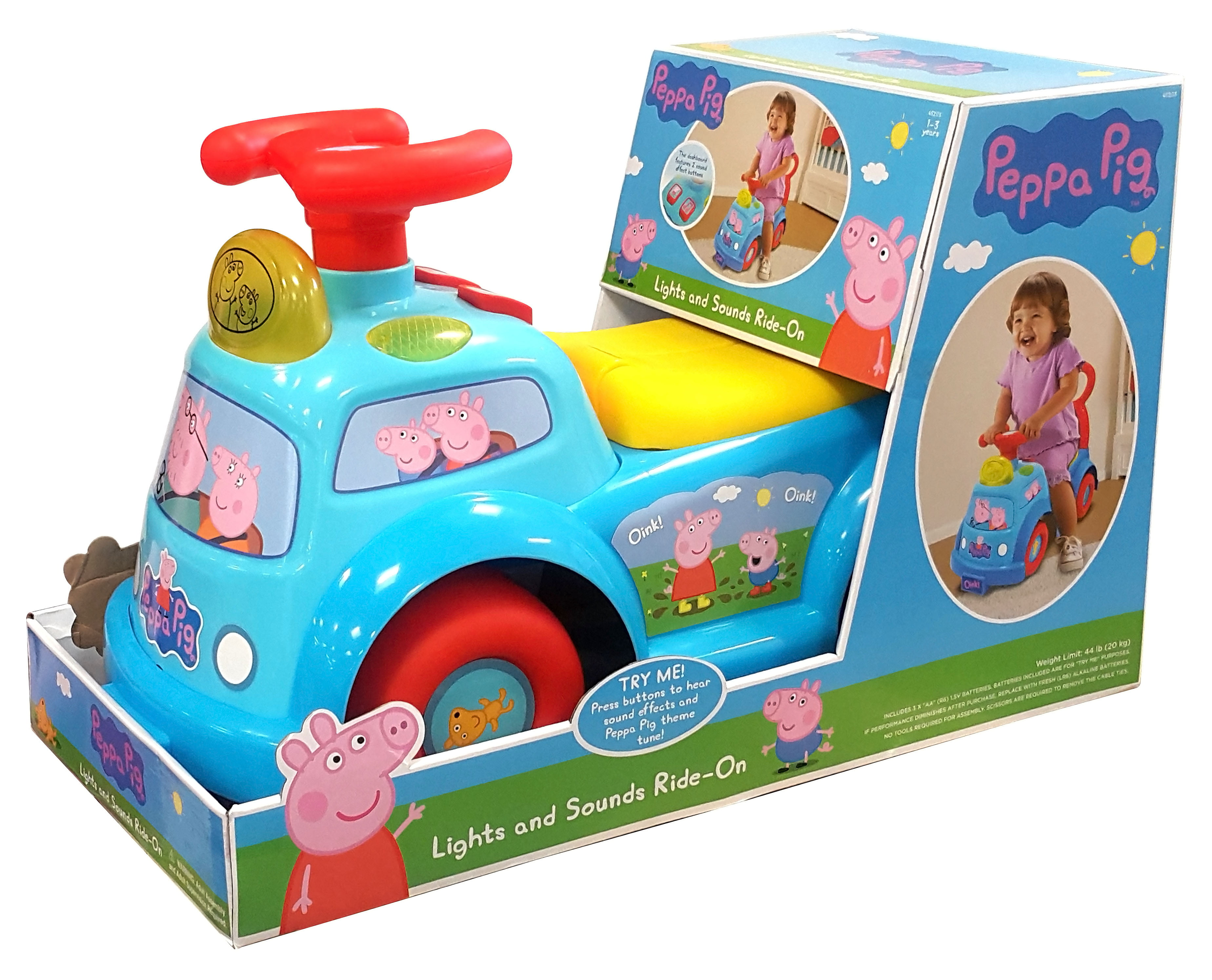 Peppa Pig Lights and Sounds Ride-On - Walmart.com