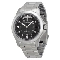 Hamilton 8587325 Mens Khaki King II Stainless Steel Black Dial