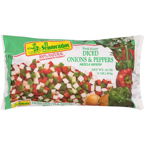 El Sembrador Diced Onions & Peppers, 16 oz