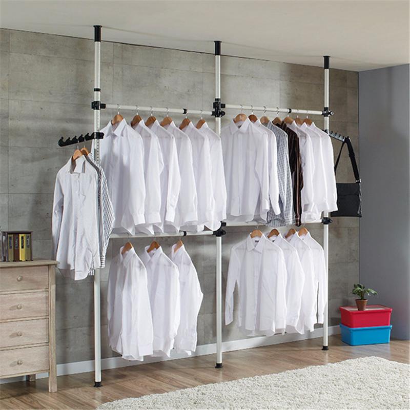 TMISHION Adjustable Home Garment Hanger Free Standing Closet