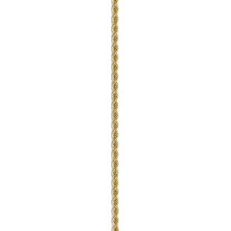14k Yellow Gold 2mm Handmade Regular Rope Chain - image 2 of 5