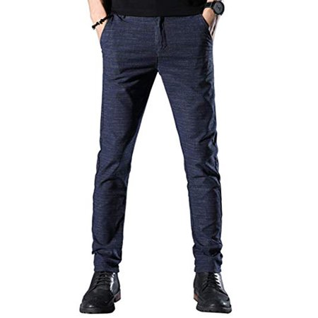 e0e0af24 LELINTA Mens Relaxed Fit Jeans Wrinkle-Free, Flat Front Trousers Dress  Pants for Men