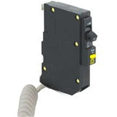 Square D QO QO130GFI Miniature Circuit Breaker, 120 V, Fixed Trip, Plug-In Mounting Ground Fault Circuit Interrupter