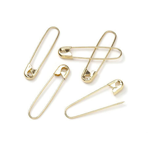 Coiless Safety Pins Gold 1.5In 25Piece