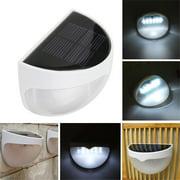 UBesGoo Waterproof 6 LED Solar Power Light Sensor Wall Light Outdoor Garden Fence Lamp