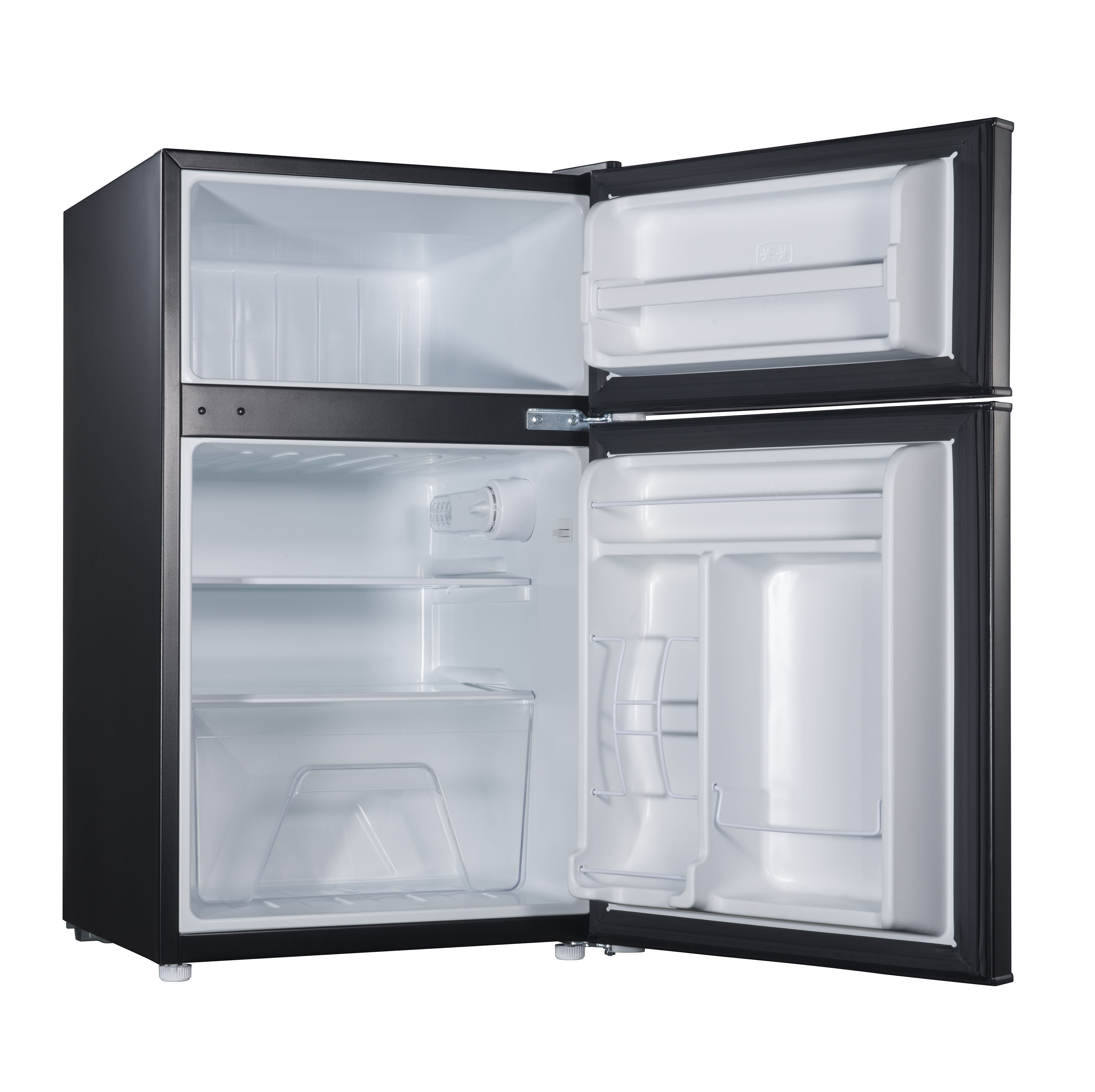 Galanz 3.1 Cu Ft Double Door Compact Refrigerator GL31BK, Black ...
