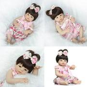 Ktaxon Reborn Baby Doll Soft Silicone vinyl 22inch Lovely Lifelike Cute Baby Boy Girl Toy Pink cute girl