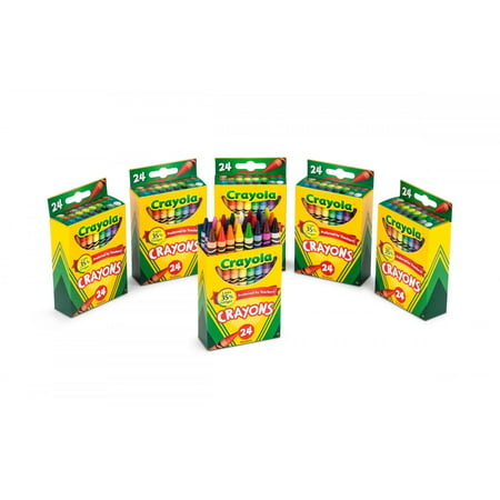 Crayola 24 Count Crayons 6 Pack Bundle Totaling 144 Crayons