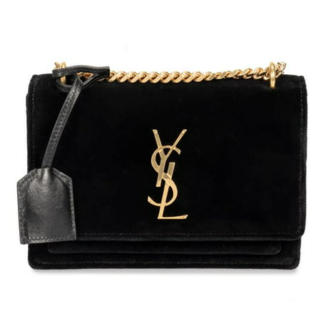 13333f400 Saint Laurent YSL-HBAG-SUNSET-BLK-VLVT-S Small Sunset Monogram ...