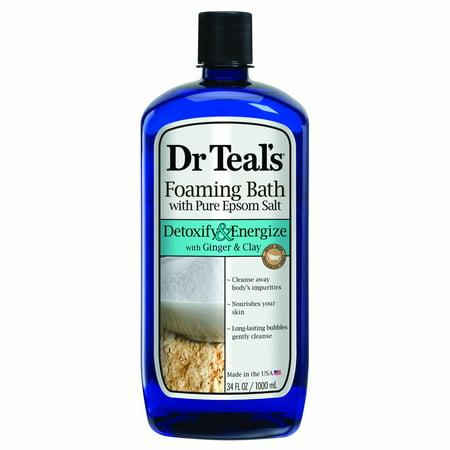 Dr Teals Detoxify   Energize Pure Epsom Salt Foaming Bath  34 Fl Oz