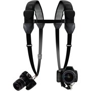 Professional Dual Shoulder Strap Camera Harness with Durable, Comfort Padded Strap and Gliding Buckles by USA Gear