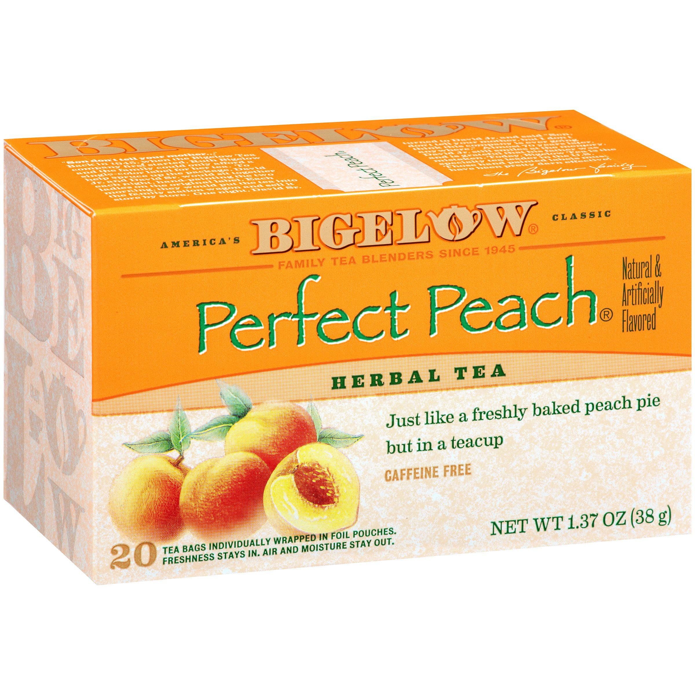 Bigelow Perfect Peach Herbal Tea 1.37 oz. Box by RC Bigelow, Inc.,