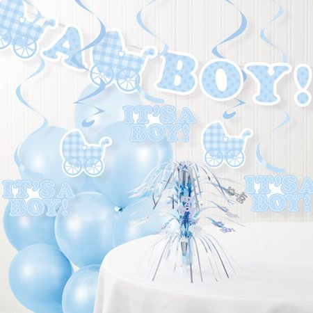 The Party Aisle 22 Piece It's a Boy Baby Shower Decorations - Baby Boy Baby Shower Decoration Ideas