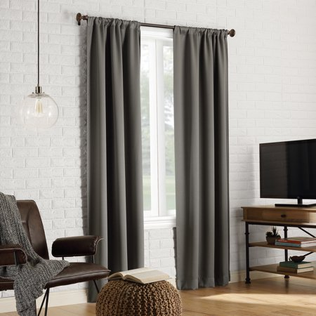 Sun Zero Avery 100% Blackout Rod Pocket Curtain Panel