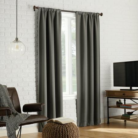 Sun Zero Avery 100% Blackout Rod Pocket Curtain Panel ()
