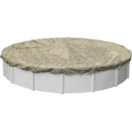 Robelle camouflage winter swimming pool cover for round for Above ground pool winter cover ideas