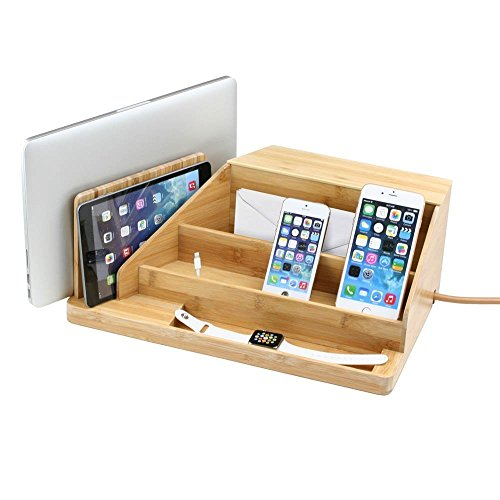 All-In-One Charging Station, Valet, and Desktop Organizer...