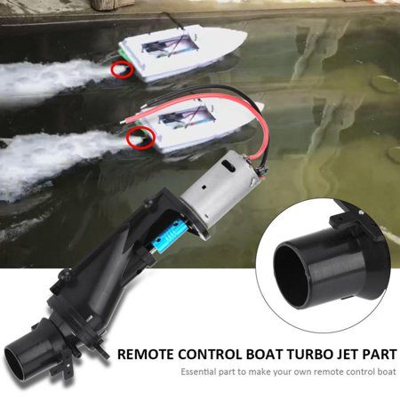 Hilitand RC Boat Toy Ship Turbo Jet with Motor Remote Control Accessory DIY Part Set, Turbo Jet with Motor, Turbo Jet Part