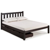 Poppy Full Bed with Storage Drawers, Espresso