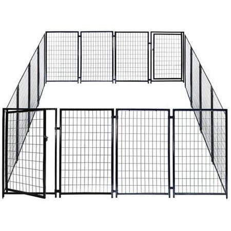 aleko 2dk5x5x4sq dog kennel heavy duty pet playpen 10 x 10 With 10 x 10 x 4 dog kennel