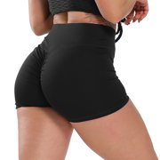 FITTOO Activewear Women Sports Short Ruched Butt Pants Gym Running Jogging Girl Casual Yoga Short Leggings High Waisted