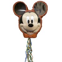 Mickey Mouse Pinata, Pull String, 19.5in x 18.25in