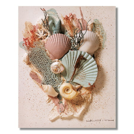 Ocean Starfish Sea Shell Beach Bathroom # 2 Wall Picture 8x10 Art - Starfish Shell