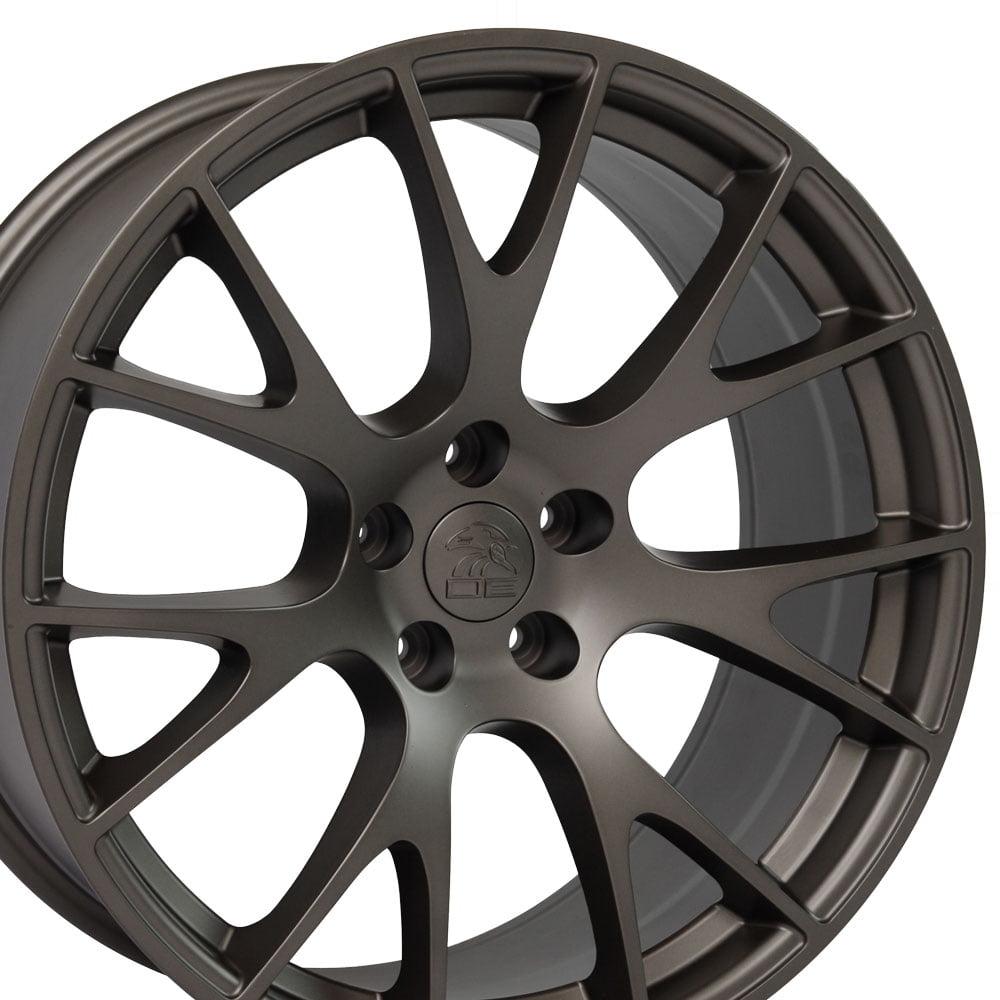 20x10 Wheel Fits Dodge, Chrysler - Hellcat Style Bronze Rim, Hollander 2528