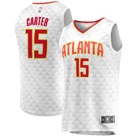 premium selection 786ba 5c129 Vince Carter Atlanta Hawks Fanatics Branded Fast Break Replica Jersey -  Association Edition - White